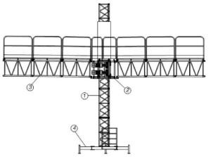Рис. 1 Мачтовая рабочая платформа ISIS-132, одномачтовая
