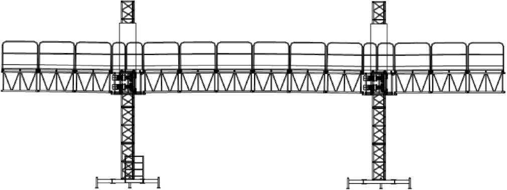 Рис. 2 Мачтовая рабочая платформа ISIS-132, двухмачтовая